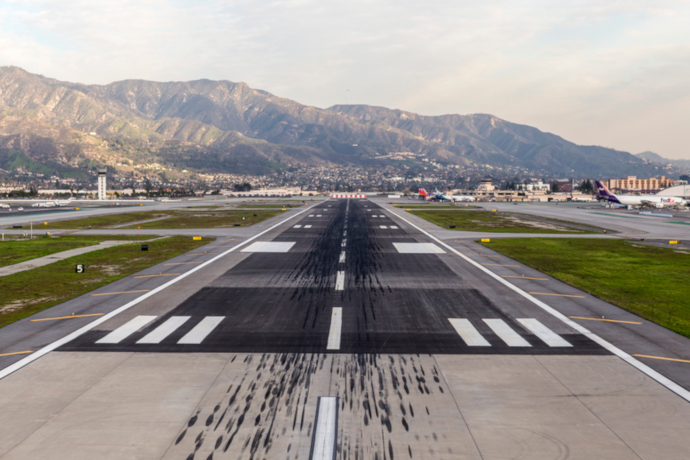 Hollywood Burbank Airport is a public airport located 3 miles northwest of downtown Burbank.